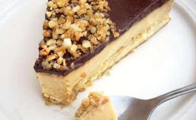 Sablé aux Cacahuètes, Crème Caramel et Miroir Cacao