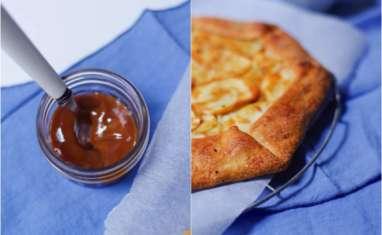 Tarte rustique pommes et confiture de lait