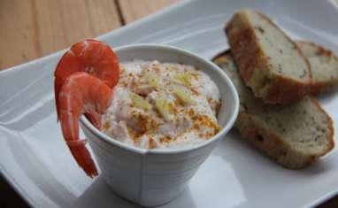 Rillettes légères aux crevettes