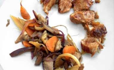 Rouelle de Porc Confite à la Citronnelle et ses Petits Légumes