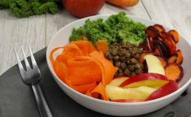 Buddha bowl chou kale, lentilles et cie