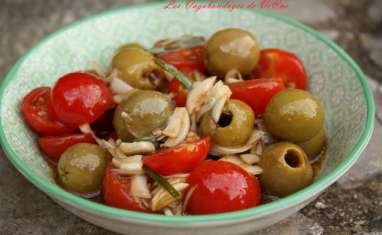 Salade Syrienne aux olives