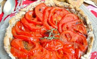 Tarte aux tomates, romarin et moutarde à la figue