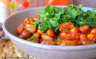 Doubara de Biskra râgout aux pois chiches et fèves