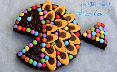 Gâteau d'anniversaire poisson au chocolat