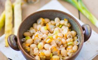 Salade de cocos de Paimpol aux coques et à l'oignon