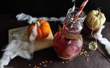 Potion magique d'Halloween aux yeux, raisin et litchi