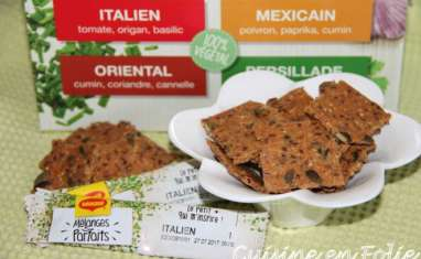 Crackers tomate, origan, basilic