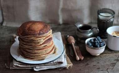 Pancakes au levain et farine semi complète