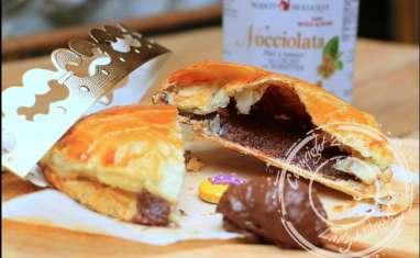 Galette des rois à la crème d'amandes et pâte à tartiner