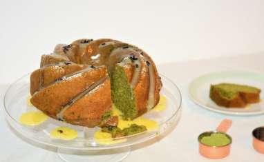 Bundt cake au thé matcha