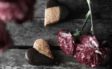 Sablés nappés de chocolat pour la fête des mères