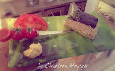 Mousse d'avocat et de crabe, miroir balsamique