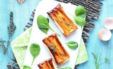 Petites quiches aux carottes, chèvre et miel