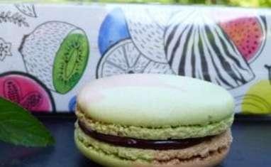 Macarons menthe chocolat délicieusement irrésistibles