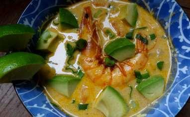 Soupe de maïs aux crevettes