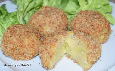 Croquettes de pomme de terre et thon sans friture