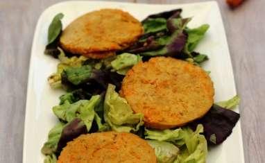 Galettes végétariennes aux pois chiche et carotte