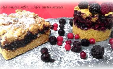 Sbriciolatas aux fruits rouges ou confiture