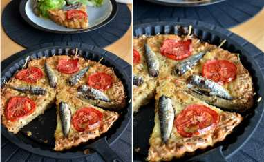 Pudding de pain aux sardines et tomates