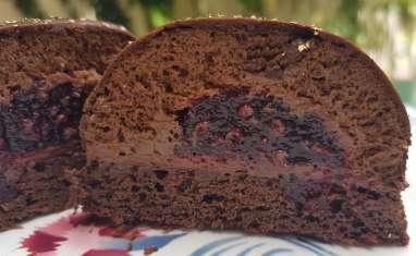 Dôme au chocolat cœur fruits rouges