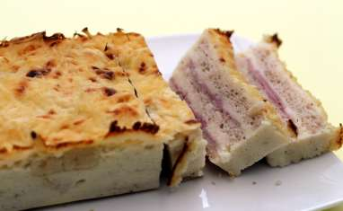 Croque cake jambon et fromage