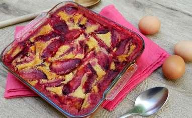 Clafoutis aux prunes rouges et aux amandes