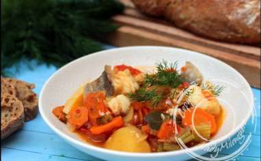 Soupe de poisson grecque à l'aneth