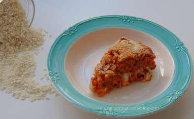 Gâteau de riz façon supplì
