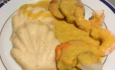 Mousses de cabillaud sauce safranée