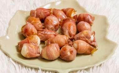 Oeufs de caille au jambon de Parme