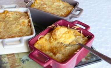 Gratin de butternut à la polenta