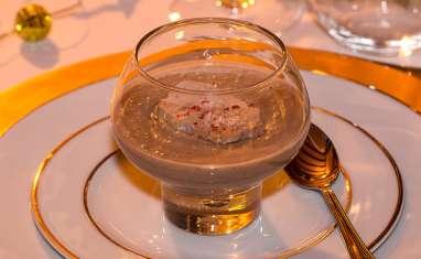 Velouté de marrons et copeaux de foie gras