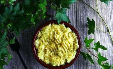 Purée de panais à l'huile d'olive et à l'origan