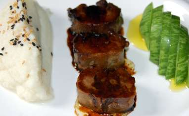 Langues de porc sauce teriyaki
