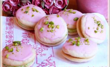 Whoopies pistache rose