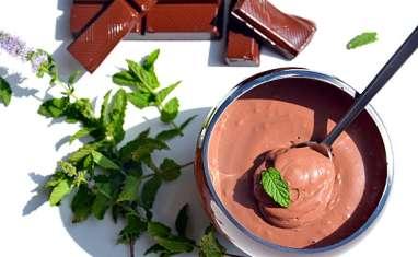 Mousse chocolat-menthe au tofu soyeux