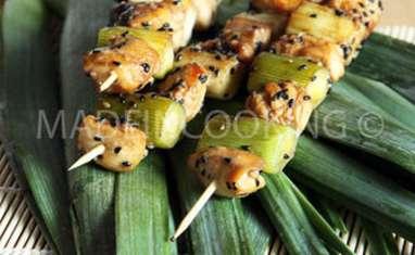 Yakitori-Brochettes de poulet japonaise