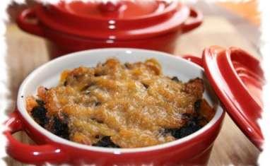 Mini-cocottes de boudin noir, potimarron et pommes