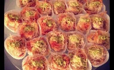 KADAïFS à l'amande, aux pistaches, miel et fleur d'oranger
