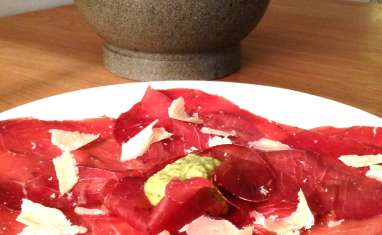 Bresaola et pesto acidulé