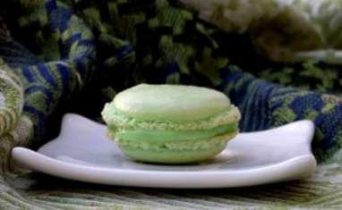 Macaron chocolat blanc et verveine
