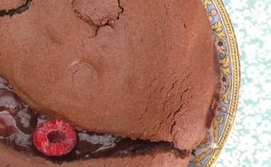 Le brownie au chocolat noir et framboises d'Amélie