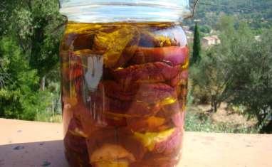 Aubergines au sel et vinaigre, huile d'olive