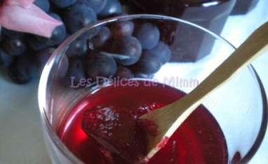 Gelée d'automne aux raisins
