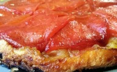 Tatin de poivrons rouges au piment d'Espelette et miel de thym