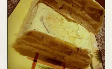 Terrine de courgettes au fromage de chèvre, ail et basilic