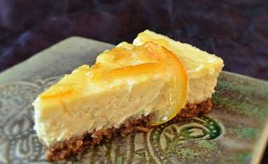 Cheesecake bergamote/amaretti
