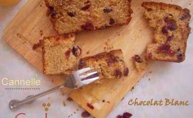 Cake aux cranberries et cannelle