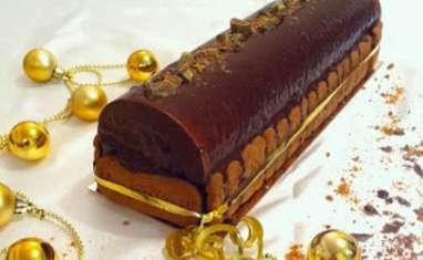 Bûche chocolat noir spéculoos